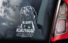 Kurzhaar- Vitre Voiture Autocollant- Braque Allemand Deutsch Chien Autocollant