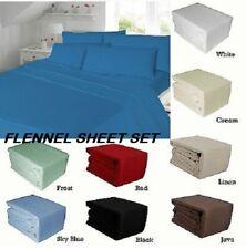 Flannelette 100%Cotton Sheet Set (Fitted-Flat Sheet + Pillow Case) Or PillowCase
