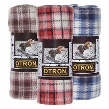 OTRON Premium Dog Blanket Pet Throw Classic Plaid Fleece Fabric,3 color,3 sizes