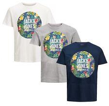 Jack & Jones Originals T-shirt Mens Crew Neck RAIN FOREST Logo Print Cotton Tee