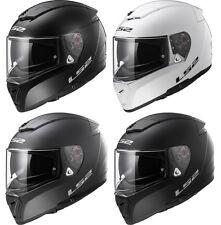 LS2 FF390 BREAKER MOTORCYCLE MOTORBIKE HELMET SOLID PLAIN - DUAL VISOR SYSTEM