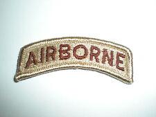 U.S. ARMY AIRBORNE TAB PATCH - DESERT