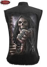 Spiral Direct BOSS REAPER SLEEVELESS STONE WASHED WORKER/Shirt/Rock/Metal/Skull