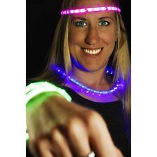 Bright LED Light Strips headband necklace bracelet Burning EDC Glow Man EDM Bike