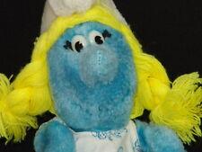 Vintage Plush Applause Peyo Smurf Movie Blonde Girl Smurfette 00004000  Cartoon Doll