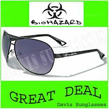 Men's Women's Biohazard Aviator Sunglasses BZ4305 UV400 Davis E5 Black