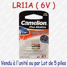 Pile Spécifique Alcaline : LR11A 11A A11 GP11A 6V 6 volts ( à l'unité ou par 5 )