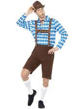 Déguisement bavarois bleu et marron adulte Cod.310423