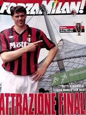 Forza Milan 5 1993 Coppa Campioni Milan Barcellona Van Basten Poster Savicevic
