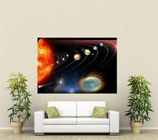 Spazio Sistema Solare Gigante 1 PEZZO Wall Art POSTER O102