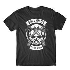 Skull Master Tattoo T-Shirt 100% Cotton Premium Tee New