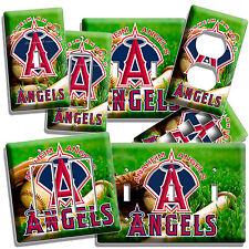 ANAHEIM ANGELS BASEBALL MLB TEAM LOGO LIGHT SWITCH OUTLET PLATE SPORT BEDROOM