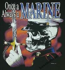 T-shirt #218 US Marines, Military Skull v8 Biker Hot Rod Route 66 dragster Bones