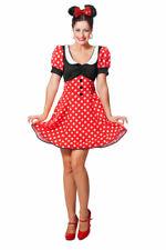 Minnie Mouse Kostüm Damen Minnie Maus-Kostüm Karneval Damen-Kostüm KK