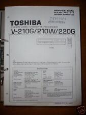 Manual De Servicio Toshiba V-210G/W/220G Vídeo ,ORIGINAL