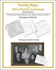 Family Maps Allen Parish Louisiana Genealogy Plat LA
