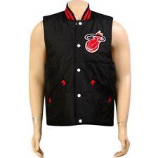 $96 Mitchell And Ness Premium Miami Heat Tailgate Vest black 6049A-314
