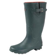 Ladies Green Wide Calf Wellington Boots Rainy Snow Waterproof Wellies 3-9
