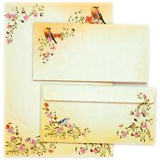 NEU Briefpapier Set Blumen und Vögel TOSKANA Motivpapier DIN A4 mit Umschläge