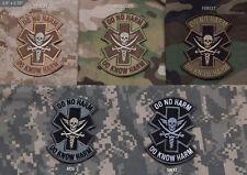 Mil Spec Monkey MSM Do No Harm Pirate Patch-Multicam-Woodland-Desert-SWAT-ACU