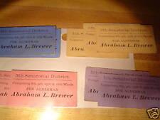 "Political Adverzing Cards: 7 Vintage 1 1/4"" x 2 1/4"""