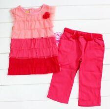 Brand New Girls Princess Young Heart Top T shirt Leggings Pants Clothing