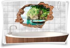Fliesenaufkleber Fliesenbild Fliesenaufkleber Wanddurchbruch Insel Meer Bad