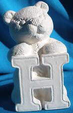 """H"" Alphabet Bear Ceramic Bisque Letter Bears U-Paint Wwc #1249"
