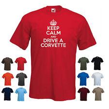 """""""Keep Calm y conducir un Corvette' Funny Chevrolet Chevy Cumpleaños Camiseta Tee"""