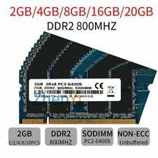 20GB 16GB 8GB 4GB 2GB DDR2 PC2-6400S 800MHz 200Pin SODIMM Laptop RAM Blue LOT UK