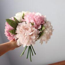 5 PCS Peony Silk Bouquet For Wedding Home Decoration Artificial Flowers Florist