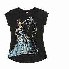 DISNEY t-shirt CENDRILLON 2 ou 6 ans noir manches courtes bas arrondi NEUF