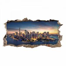 150 Wandtattoo New York - World Trade Center - Loch in der Wand Wohnzimmer Deko