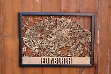 Edinburgh Laser Cut Street Maps Wooden Map