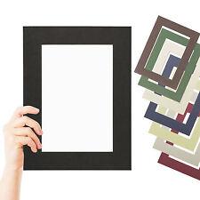 Fertig Passepartout Premium 1,4 mm alle Standard Größen 10 Farben für Rahmen