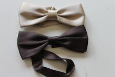 papillon cravattino farfallino in beige e marrone made in italy