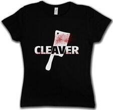 CLEAVER DAMEN T-SHIRT Sopranos The Horror Slasher Butcher Messer Axt Hackebeil