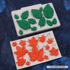 Maple Rose Leaves Silicone Fondant Mould Cake Decorating Chocolate Baking Mold