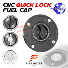 Silver Quick Lock Fuel Cap 1 pc For Suzuki V Strom 650 02-11 05 06 07 08 09 10