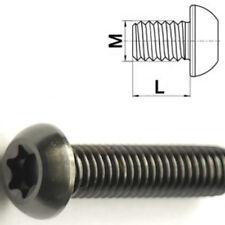 Titanschraube M6 x 12-35 mm Linsenkopf ISO7380 Torx T30 Grade 5 Schwarz