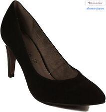 TAMARIS Schuhe Pumps schwarz Velour high heels Pfennigabsatz echt Leder NEU