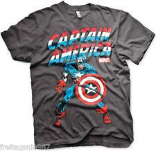 MARVEL CAPTAIN AMERICA  T-Shirt  camiseta cotton officially licensed