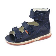 Memo HELIOS 3DA Navy Blue Orthopedic Boy's Ankle Brace Sandals, Little/Big Kid