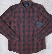 GUESS  (Chambord/Cherry Red) PREMIUM ARBOR Plaid Shirt Men's SLIM Fit NWT  $79