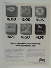 retro magazine advert 1983 GIBSON brite wire strings