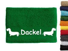 Dackel Dachshund 3 Hundemotiv Handtuch Hundehandtuch Hunde mit Namen