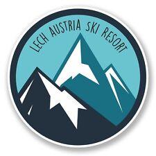 2 x Lech Austria Ski Snowboard Resort Vinyl Sticker Travel #6445