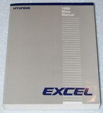 1989 HYUNDAI EXCEL GS GL GLS Sedan Hatchback Factory Shop Service Repair Manual