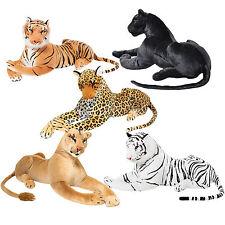 Riesige 1,10 m! Weißer o. brauner Plüsch Tiger, Panther Löwin Leopard Stofftier
