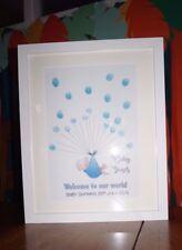 Personalised Baby Shower Print Boy/Girl Fingerprint Guest Book Keepsake+ Ink pad